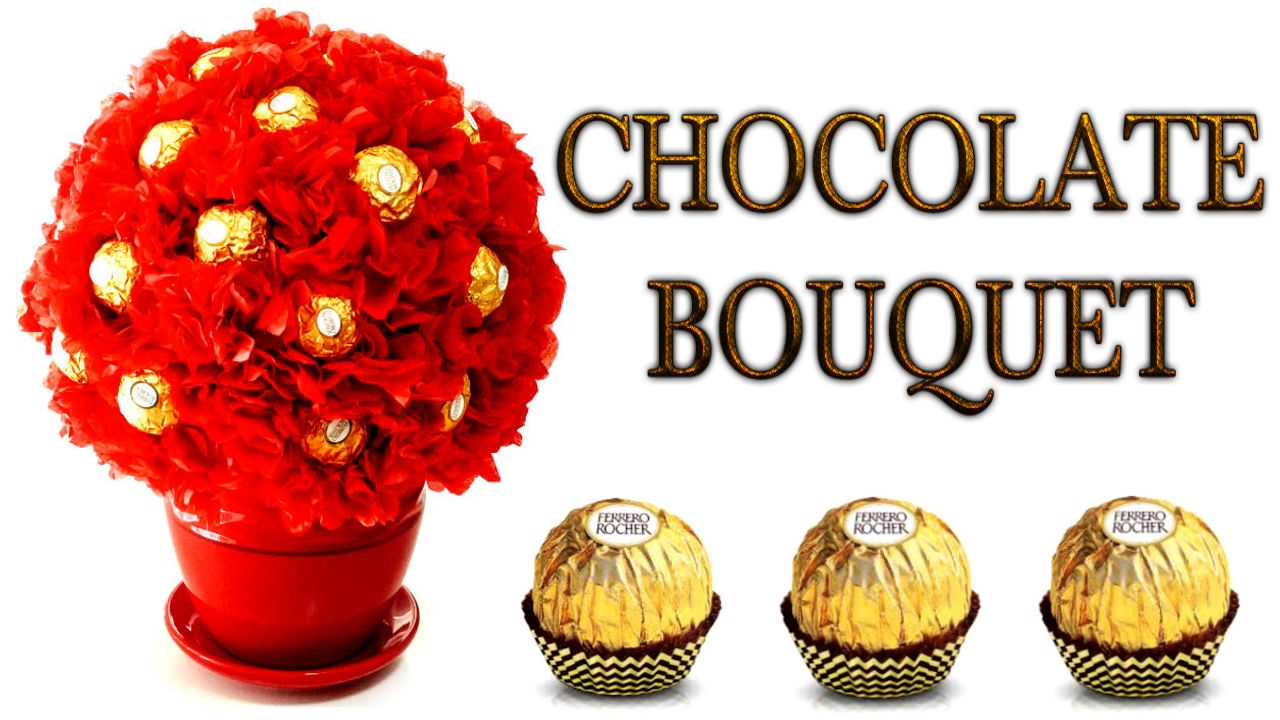 DIY CHOCOLATE BOUQUET! Easy Diy Gift Idea For Anyone On
