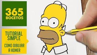 COMO DIBUJAR HOMER SIMPSON/ HOMERO PASO A PASO - Los Simpsons - How to draw a Homer Simpson