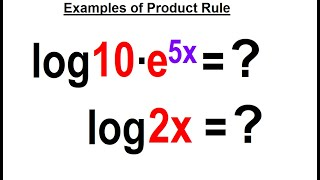 Algebra Ch 47: Logarithmic Functions (15 of 26) Examples Using the Product Rule
