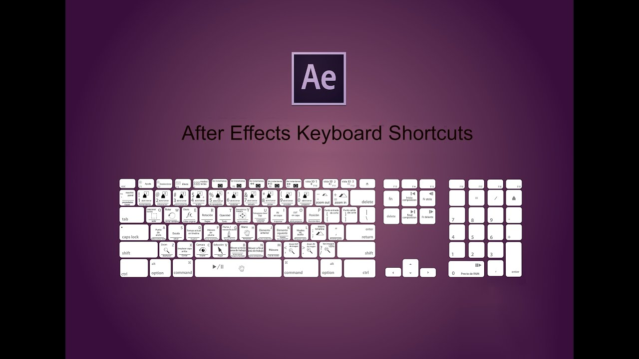 Adobe After Effects Basic Tutorial 2/8 - Top 50 Keyboard Shortcuts ...