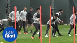 Liverpool players train ahead of their match against Roma - Daily Mail