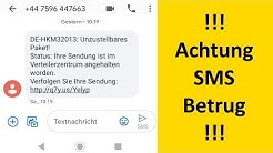 (unrelated 9) !!! ACHTUNG gefälschte DHL Paket-SMS: Betrug / Abofalle / Abzocke / Phishing !!!