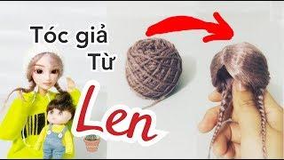 Làm tóc giả từ len cho búp bê/ Wig for doll  |  BÚP BÊ MÍA