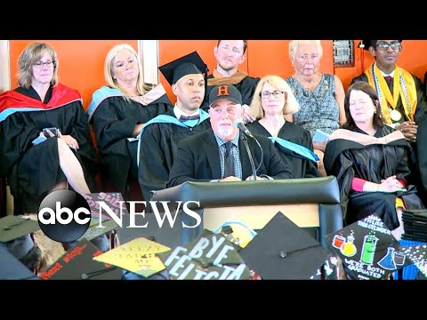 Download Youtube: Billy Joel delivers commencement address at his Long Island High School