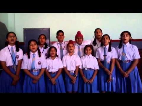 Bharat vande matram patriotic by Convent School Dasuya