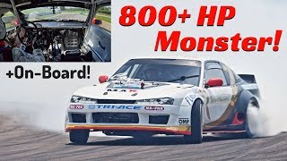 800+ hp Nissan 200SX with VR38DETT GT-R R35 Engine Swap by Francesco Conti - Drifting & OnBoard!