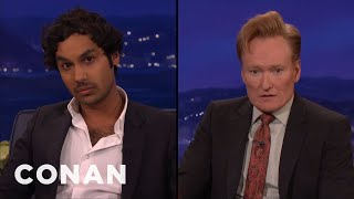 kunal nayyar conan compare mirror faces conan on tbs