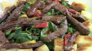 Asian Fusion Spicy And Sweet Chili Beef Salad