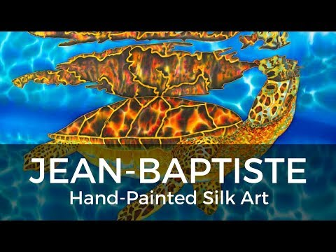 BASIC BATIK SILK PAINTING TECHNIQUES OF JEAN-BAPTISTE | SEA TURTLE