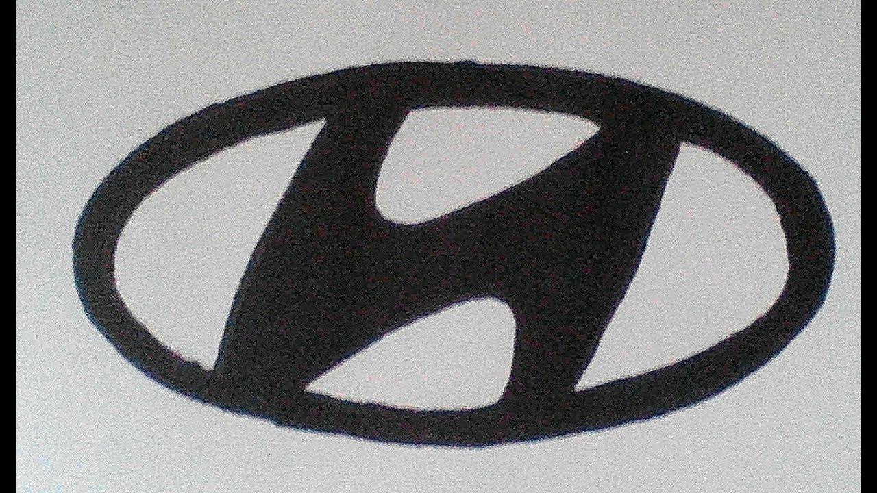 Hyundai How To Draw A Hyundai Logo