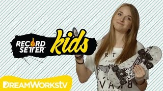 Jennxpenn Skateboard Smash & Eye-Popping Skating World Records | RECORDSETTER KIDS Ep. 12