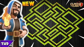 NEW TOWN HALL 9 FARMING/TROPHY BASE 2018! TH9 HYBRID BASE WITH REPLAYS(NO CC)!! -CLASH OF CLANS(COC)