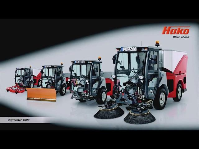 Hako Citymaster 1600 Outdoor Cleaning Machine.