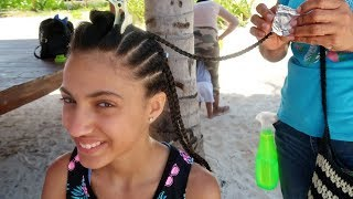 Getting My Hair Braided at the Resort Hotel!!! VLOG