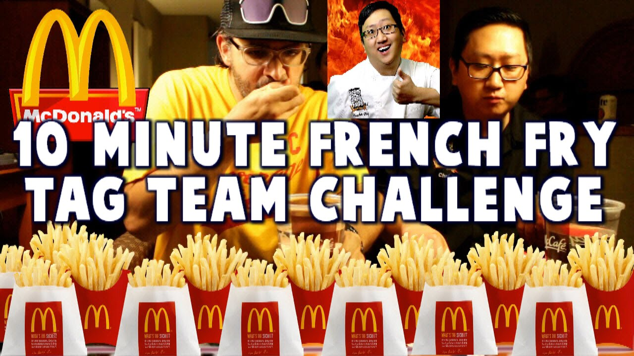 Mcdonalds 20 Large French Fries Challenge W Hellthyjunkfood Freakeating Vs The World