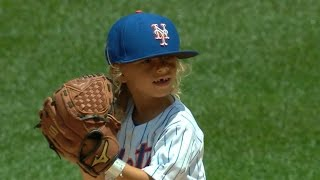 Mini Thor throws out ceremonial first pitch