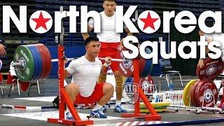 North Korea Back Squats 2015 World Weightlifting Championships