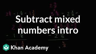 Subtracting Mixed Numbers With Like Denominators