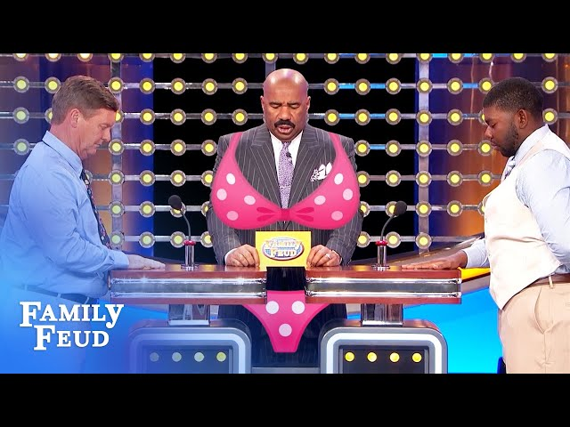 OMG. Grandpa's wearing... a BIKINI?! | Family Feud
