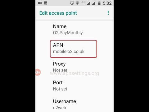 O2 Pay Monthly APN Settings UK