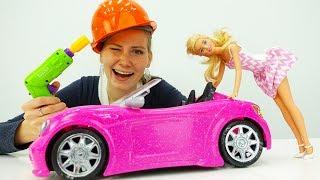 Машина Барби. Веселый отпуск Барби. Видео для девочек
