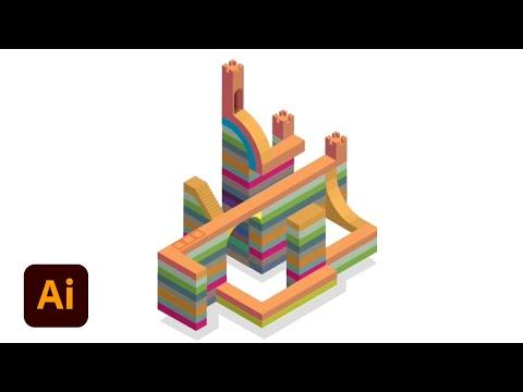 Create Isometric Art: Part 2 (Monument Valley) | Illustrator Tutorial