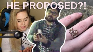 HE PROPOSED LIVE ON STREAM!