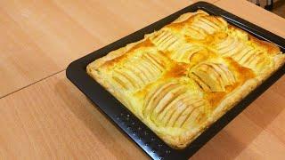 Яблочный пирог в слоеном тесте Заливные яблочки