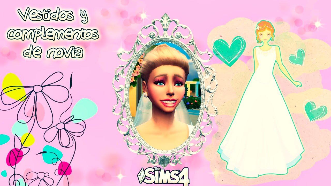 VESTIDOS DE NOVIA Y COMPLEMENTOS | Los Sims 4: Descargas - YouTube