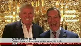 Nigel Farage talks about his meeting with President Donald Trump