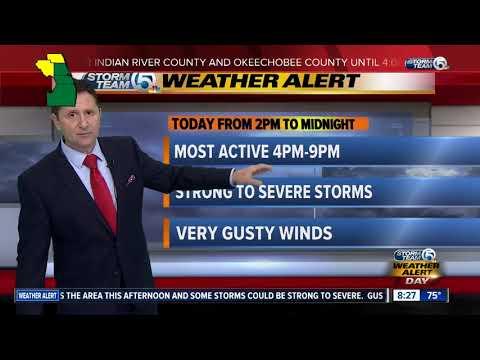 Tornado watch in effect for Okeechobee, Indian River counties until 4 p.m.