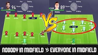 Nobody in Midfield VS Everyone in Midfield - FIFA 18 Experiment