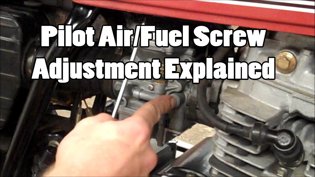 Pilot Airfuel Screw Adjustment Explained Single Carb Part 1