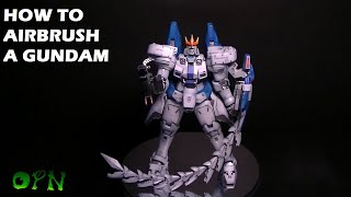 How to Airbrush a model kit the quick way.