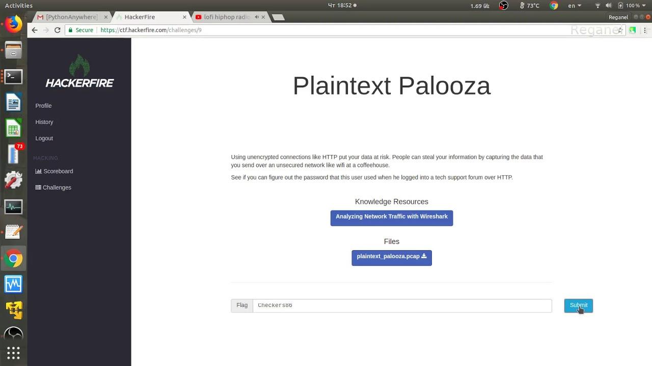 HackerFire CTF  Plaintext Palooza