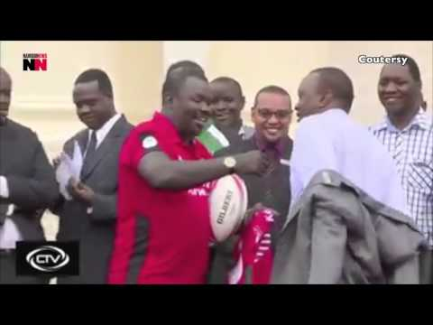 Uhuru gifts Sh10 million to rugby sevens heroes