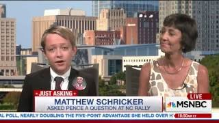 11 Year old Matthew Schricker   Puts MSNBC Anchor In Her Place For Slanted Coverage