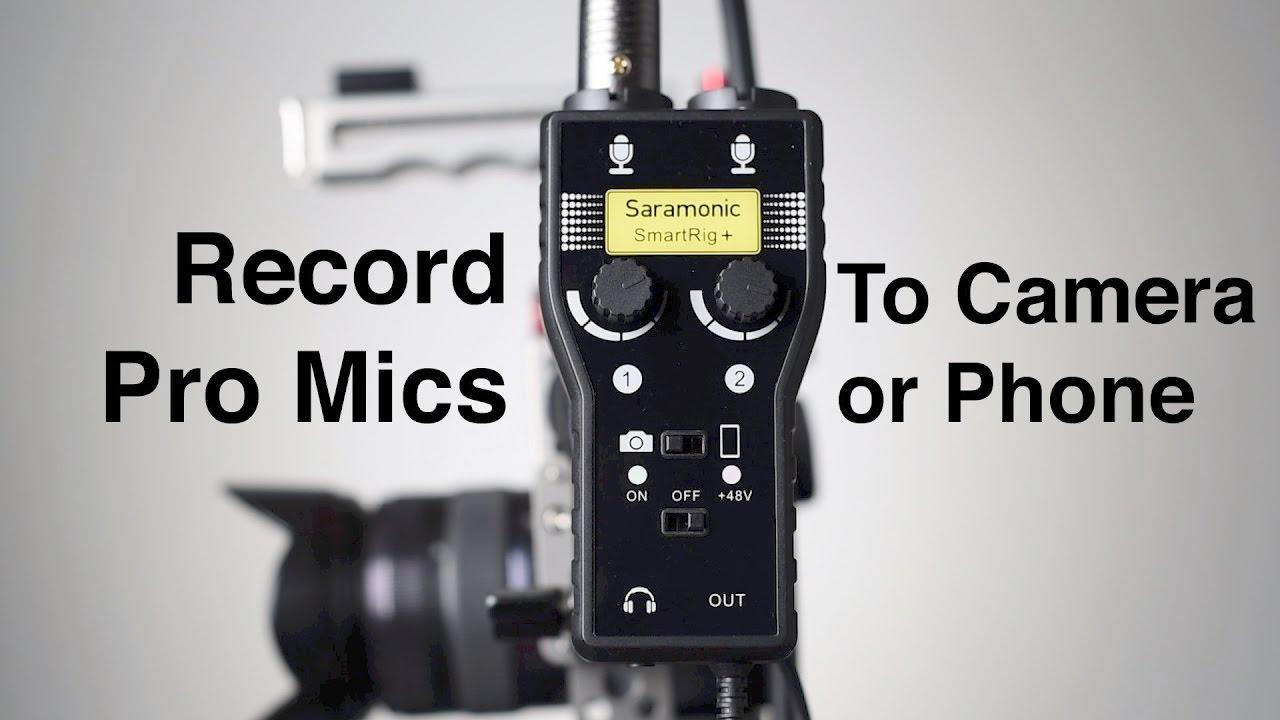 Saramonic Smartrig Cameras & Photo Two Audio Adapter For Cameras Smartrig Plus