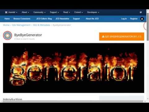 How To Remove The Joomla Meta Tag Generator