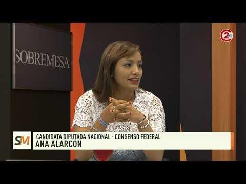 Sobremesa 22-10-19| Ana Alarcón - Candidata Diputada Nacional - Consenso Federal