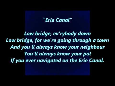 ERIE CANAL Low Bridge Everybody Down 15 Fifteen Miles Years Mule Named Sal words lyrics SONG