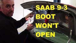 Saab 9-3 Boot (Trunk) won't open