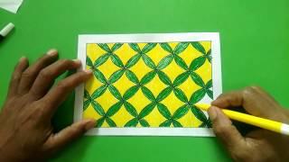 Menggambar Batik Kawung Motif Kotak-kotak Yang Mudah Dan Cepat