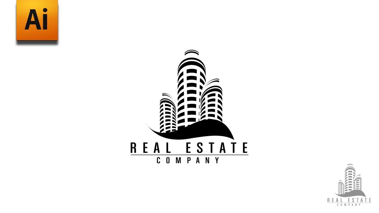Adobe Illustrator Tutorial - Real Estate Logo Graphic Design - YouTube
