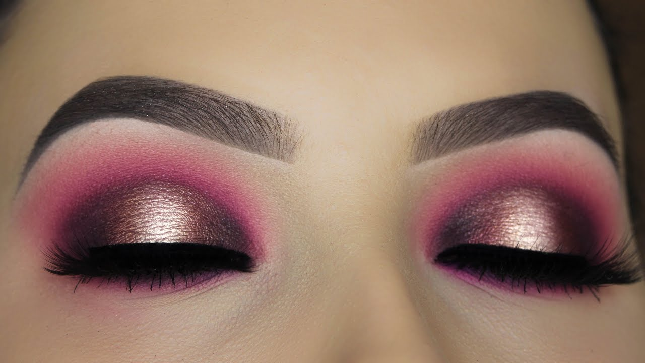 Berry Halo Smokey Eye Makeup Tutorial YouTube