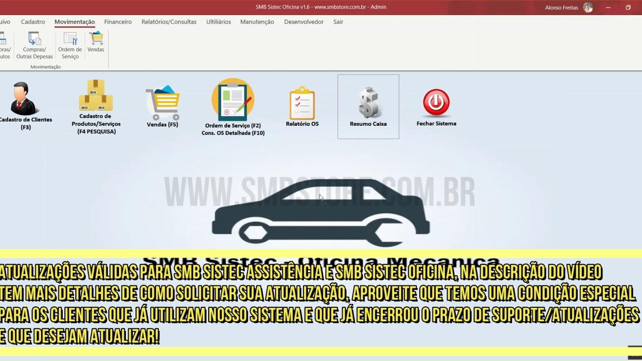 Confira as atualizações do sistemas SMB Sistec Oficina e SMB Sistec Assistência!