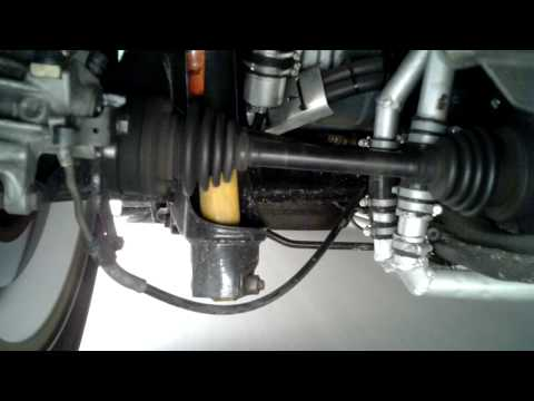 Rear suspension of a 1973 VW beetle in action