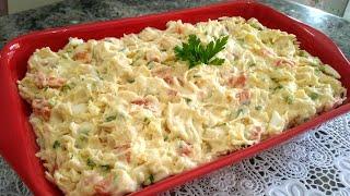 Salada Cremosa De Maionese Com Frango