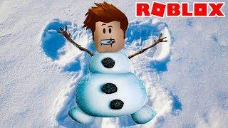 СИМУЛЯТОР СНЕГОВИКА или Снежной Бабы #2 Snowman Simulator в Роблокс с Кидом на Новый Год