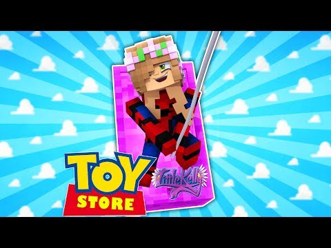 SPIDERMAN LITTLE KELLY SAVES HARLEY QUINN! Minecraft ToyStore